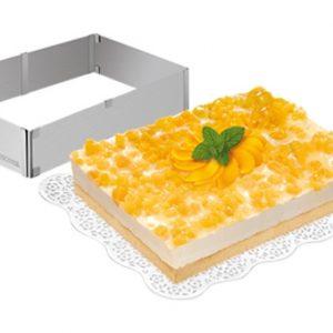 Formy na dort - Nastavitelná forma na dort obdélníková DELÍCIA