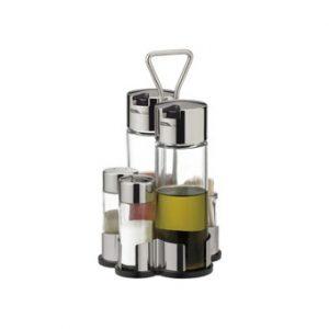 Dochucovací soupravy - Souprava olej-ocet-sůl-pepř-párátka CLUB